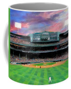 Twilight At Fenway Park Coffee Mug by Jack Skinner