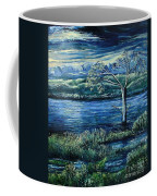 Twilight At The River Coffee Mug