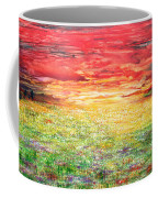 Twilight Bounds Softly Forth On The Wildflowers Coffee Mug