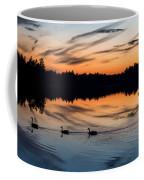 Twilight Lake Swim New Jersey Coffee Mug