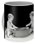 Twin Babies Playing Checkers, C.1930-40s Coffee Mug