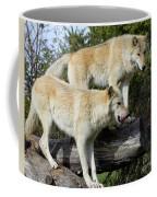 Twin Blond Wolves Coffee Mug