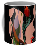 Twin Fire Flower Head 2 Coffee Mug by Navo Art