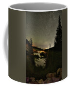 Twin Lakes Night Panorama Coffee Mug