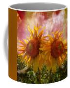 Twin Sunflowers Coffee Mug