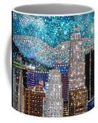 Los Angeles. Rhinestone Mosaic Beadwork Mix Coffee Mug