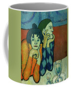 Two Acrobats, Harlequin And His Companion Coffee Mug