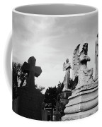 Two Angels Joseph, Jesus And A Bold Cross In A Cemetery Coffee Mug