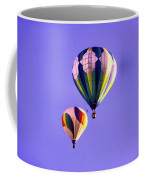 Two Balloons In The Clear Blue Sky  Coffee Mug