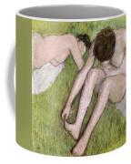 Two Bathers On The Grass Coffee Mug