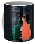 Two Beautiful Women In Elegant Long Dresses Coffee Mug