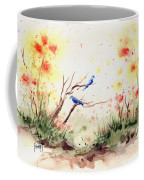 Two Bluebirds Coffee Mug by Sam Sidders