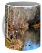 Two Boys Fishing Coffee Mug