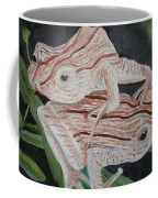Two Brown Striped Frogs Coffee Mug
