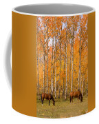 Two Colorado High Country Autumn Horses Coffee Mug