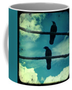 Two Crows Blue Lomo Sky Coffee Mug