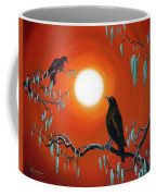 Two Crows On Mossy Branches Coffee Mug