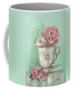 Two Cup Rose Painting Coffee Mug