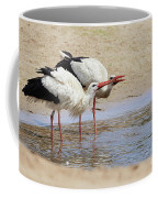 Two Drinking White Storks Coffee Mug by Nick Biemans