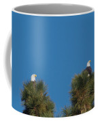 Two Eagles In Two Tree Tops Coffee Mug