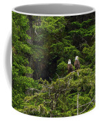 Two Eagles Perched Painterly Coffee Mug
