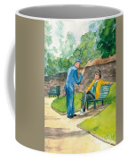 Two Englishmen In Conversation  Coffee Mug