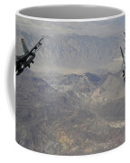 Two F-16 Fighting Falcons Break Coffee Mug by Stocktrek Images