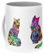 Two Fluffy Cats-colorful Coffee Mug
