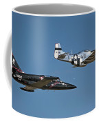 Two Generations Of Aircraft Coffee Mug