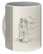 Two Girls In A Field Coffee Mug