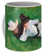 Two Girls On A Lawn Coffee Mug