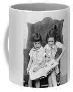 Two Girls Reading A Book, C.1920-30s Coffee Mug