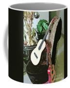 Two Guitars On A Shoe Chair Coffee Mug