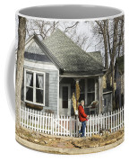 Two Handed Dog Walk Coffee Mug