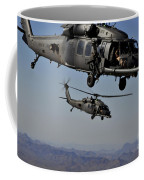 Two Hh-60 Pave Hawk Helicopters Prepare Coffee Mug