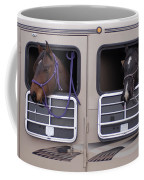 Two Horses Are Ready To Travel Coffee Mug