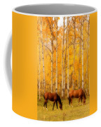 Two Horses In The Autumn Colors Coffee Mug by James BO  Insogna
