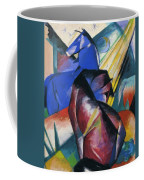 Two Horses Red And Blue 1912 Coffee Mug