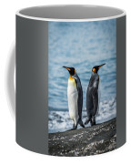 Two King Penguins Facing In Opposite Directions Coffee Mug