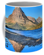 Two Medicine Lake Sunrise Panorama Coffee Mug