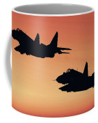 Two Migs At Sunset Coffee Mug