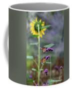 Two Monarch Butterflies And Sunflower 2011 Coffee Mug