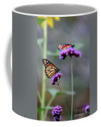 Two Monarchs On Verbena Coffee Mug