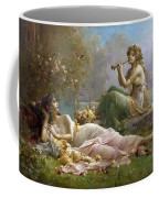 Two Nymphs By The Water Hans Zatzka Coffee Mug