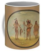 Two Ojibbeway Warriors And A Woman Coffee Mug