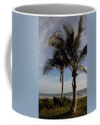 Two Palms And The Gulf Of Mexico Coffee Mug