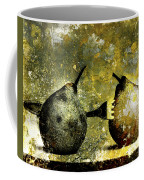 Two Pears Pierced By A Fork. Coffee Mug