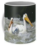 Two Pelicans At Horn Rapids Coffee Mug