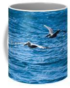 Two Pelicans Flying Coffee Mug