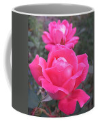 Two Pink Double Roses Coffee Mug